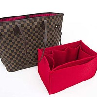 "Tagre™ For ""Louis Vuitton Bags"" Purse insert bag organizer,felt bag insert organizer with Ipad placer / Color Option a"