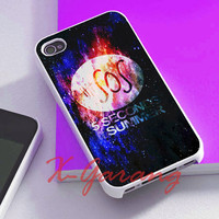 5Sos Second Of Summer logo nebula cover for iphone 4/4s case, iphone 5/5s/5c case, galaxy s3/s4/s5 case, nexus 4, htc one case, ipod case