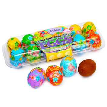Foiled Milk Chocolate Easter Eggs 12-Piece Crates: 12-Piece Pack