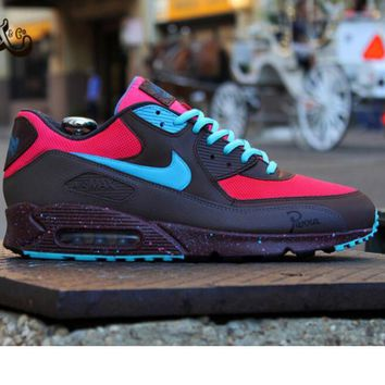 """NIKE"" Fashion Women/man Running Sport Casual Shoes Sneakers rose red-blue"
