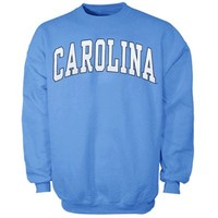 North Carolina Tar Heels (UNC) Bold Arch Crew Sweatshirt - Carolina Blue