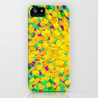 SPRING SPLASH - Bright Cheerful Lime Sunshine Yellow Lavender Lilac Purple Ocean Beach Waves iPhone Case by EbiEmporium | Society6