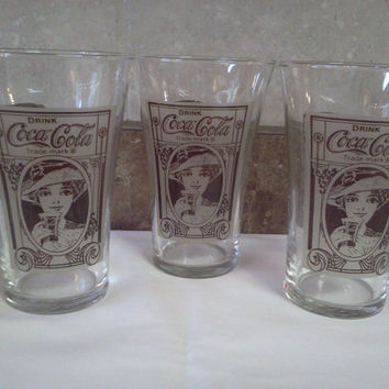 Coca Cola Tumblers Kroger 100th Anniversary Glasses