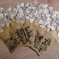 Alice in Wonderland Book Confetti 500 pieces for Vintage Wedding