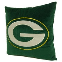 Green Bay Packers 16-Inch Polyester Felt Plush Pillow