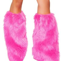 Pink Fluffies | J. Valentine Leg Warmers at RaveReady