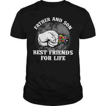Autism: Father and son best friend for life shirt Guys Tee