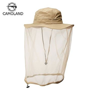 UPF50+ Summer Sun Hat Breathable Mesh Bucket Hat Men Women Fishing Cap Protection Insect Bug Bee anti-Mosquito Gnats Outdoors