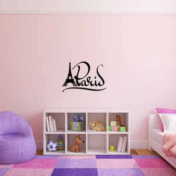 Paris Vinyl Wall Words Decal Sticker Graphic