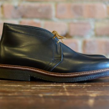 Alden Shoes 1247 Chukka Boot Black Leather