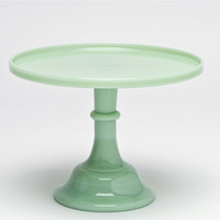 Jadeite Milk Glass Cake Stand