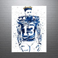 Odell Beckham Jr New York Giants Hair Poster