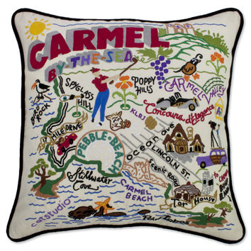 Carmel Hand Embroidered Pillow