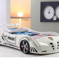 POLICE Racing car children`s bed