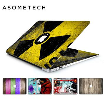 Rainbow Wooden PVC Laptop Sticker Decal For Apple Macbook Air Pro Retina 11 12 13 15inch US keyboard Graffiti Protective Covers