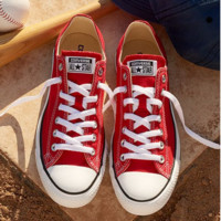 """Converse"" Fashion Canvas Flats Sneakers Sport Shoes Low tops Red"