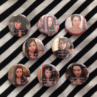 April Ludgate Parks & Rec Pinback 4 Button Set (You Choose Which 4)