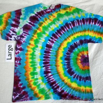 Adult Large Tie Dye fanfold tee