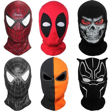Balaclava Full Face Mask Spider Black Panther Ghost X-men Deadpool Punisher Deathstroke Grim Watch Dog Clown Tactical Halloween
