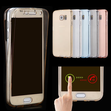 For Samsung Galaxy A3 A5 J1 J5 J7 2016 G530 S4 S5 S6 S7 Edge Plus Note 7 5 4 3 Case Soft TPU Full Protective Clear Cover Cases