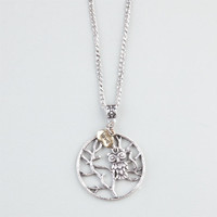 Full Tilt Owl/Tree/Love Charm Necklace Silver One Size For Women 24361514001