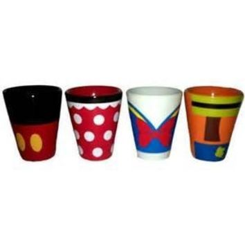 Disney Mickey Minnie Donald Goofy Shot Glass Set of 4
