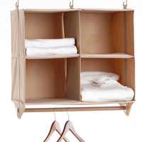 Neatfreak Cubby Organizer, 4 Shelves with Hanging Bar ClosetMAX