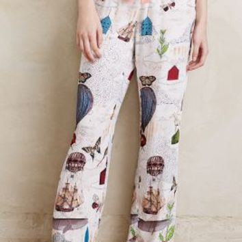 Sarah Ogren Wanderlust Sleep Pants in White Size: