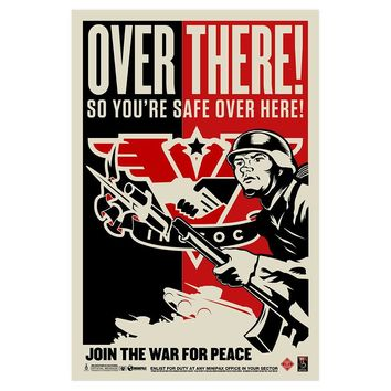 INGSOC 1984 Over There Propaganda Poster