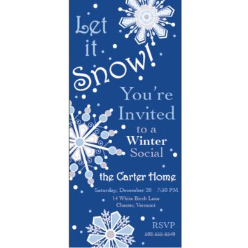 Winter Party or Shower Invitations