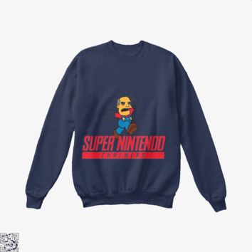 Super Nintendo Chalmers, The Simpsons Crew Neck Sweatshirt