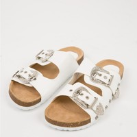Therapy White Dukes Slides