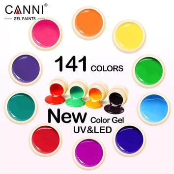 #50618 New CANNI Nail Art Tips Design Manicure141 Color UV LED Soak Off DIY Paint Color Gel Ink UV Gel Nail Polish Lacquer