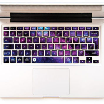 graphic about Printable Keyboard Stickers identified as Stardust - Decal Keyboard Sticker for Macbook Mac Lenovo Asus Sony Dell HP Acer Samsung Toshiba Galaxy Star Industry Cosmos Universe Milky Course