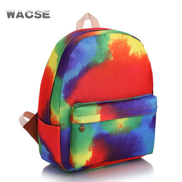 Casual Canvas Fashion Travel Stylish Backpack = 4887617028