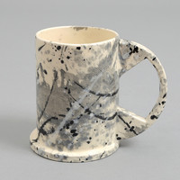 peter shire   echo park - large black splattered mug