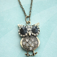 vintage inspired owl necklace