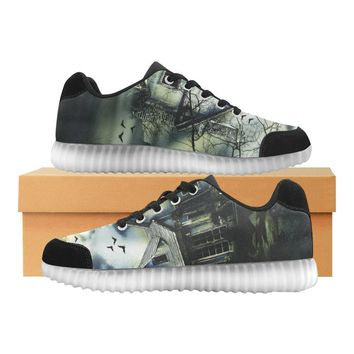 Haunted House Design 1 Light Up Casual Men's Shoes