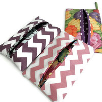 Tissue Holders- Assorted Trio, Kleenex Case, Pouch, Holder, Travel Tissue Holder,Handmade in USA,Tissue Holder for Purse