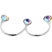Sterling Silver 925 Aurora CZ Double Toe Ring | Body Candy Body Jewelry