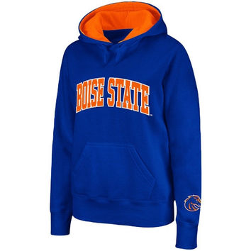Boise State Broncos Women's Arched Name Pullover Hoodie - Royal Blue