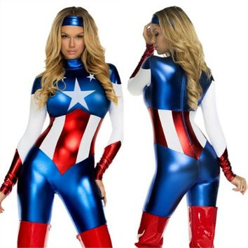 Marvel Women's Captain America Cosplay Costume
