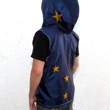 Alaska State Flag Hoodie - mens hoodie - mens shirts - usa american flag clothing windbreaker - mens jacket - upcycled clothing - vest