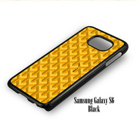 Goyard Yellow Pattern for Samsung Galaxy S6, Samsung Galaxy S6 Edge Case
