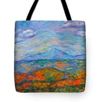 Misty Blue Ridge Autumn Tote Bag