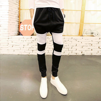 Men Pants Skinny Pants Casual Sportswear [6504485127]