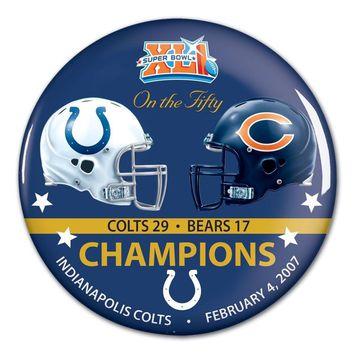 CHICAGO BEARS INDIANAPOLIS COLTS SUPER BOWL XLI CHAMPS ON THE FIFTY BUTTON