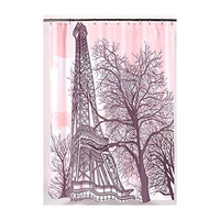 Park Avenue Deluxe Collection Park Avenue Deluxe Collection  inch Tour Eiffel inch  Fabric Shower Curtain