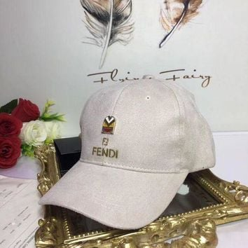ONETOW Autumn and winter Fendi Men Women cashmere baseball cap
