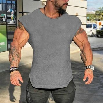 Brand Gyms Tank Top Mens Sleeveless t shirts Summer Cotton Slim Fit Men Clothing Bodybuilding Undershirt Golds Fitness tops tees